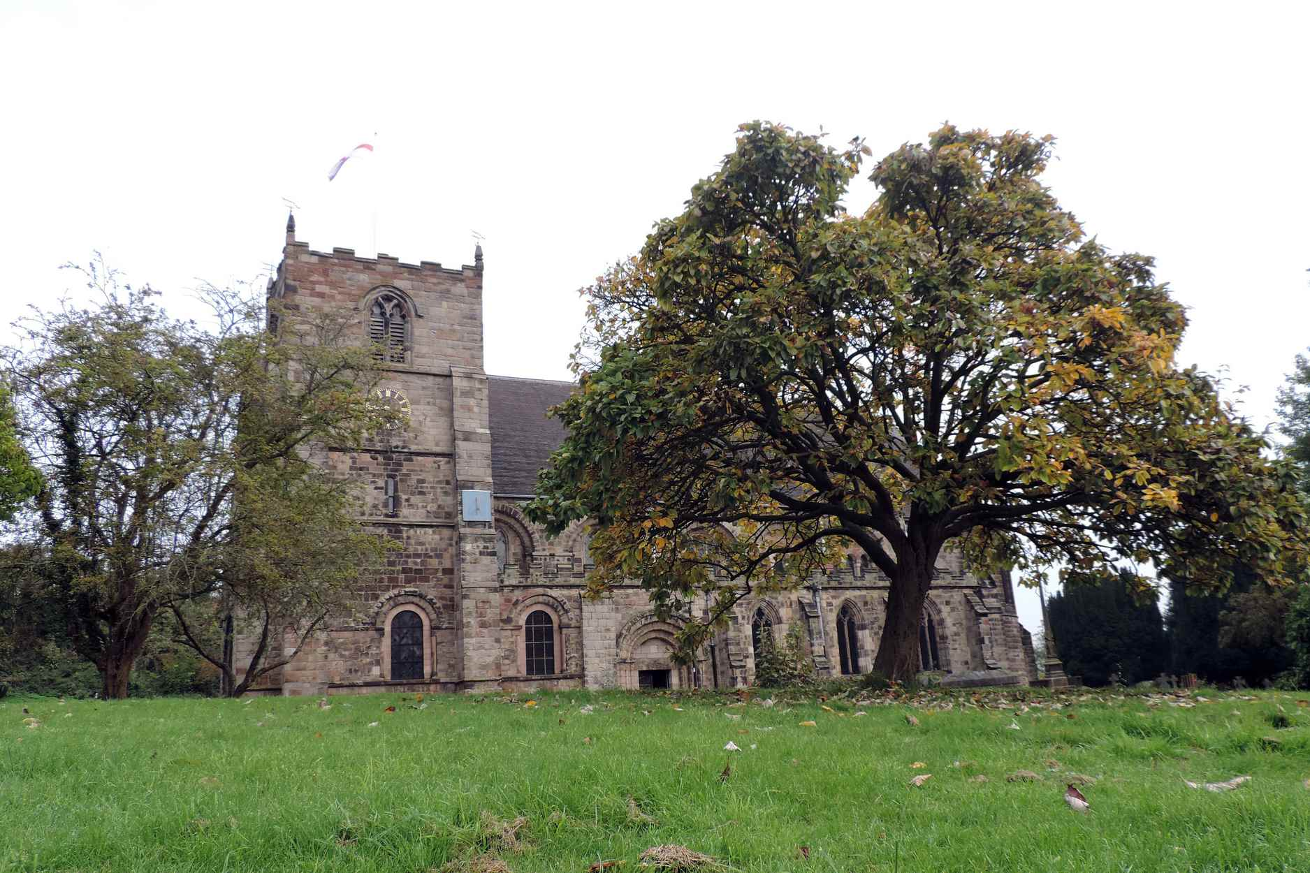 Church with Tree